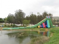 Giant slide with Pond