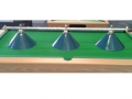 Triple canopy pool table light