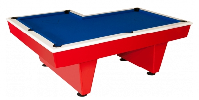 L-Shaped Pool Table